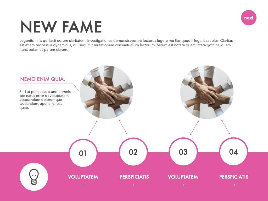 New Fame Google Slides Presentation Template, Slide 2, 06881, Presentation Templates — PoweredTemplate.com