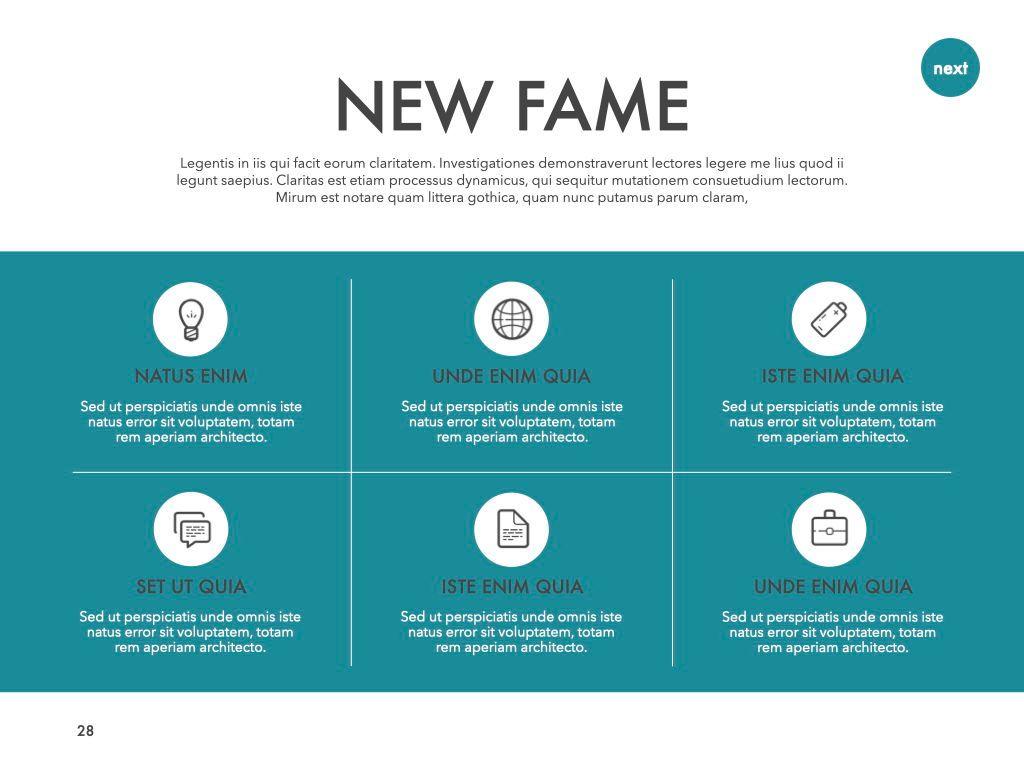 New Fame Google Slides Presentation Template, Slide 22, 06881, Presentation Templates — PoweredTemplate.com