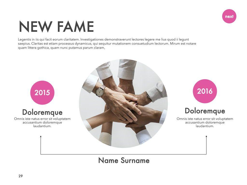 New Fame Google Slides Presentation Template, Slide 24, 06881, Presentation Templates — PoweredTemplate.com