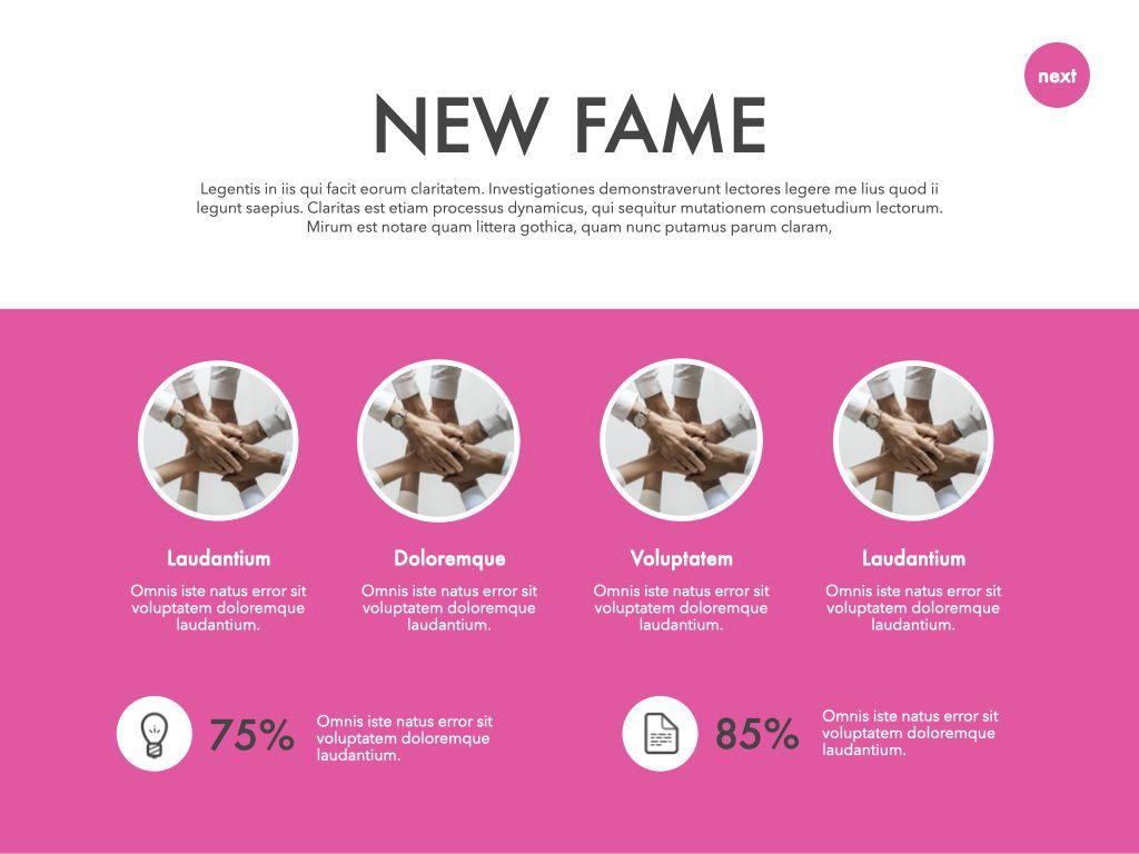 New Fame Google Slides Presentation Template, Slide 25, 06881, Presentation Templates — PoweredTemplate.com