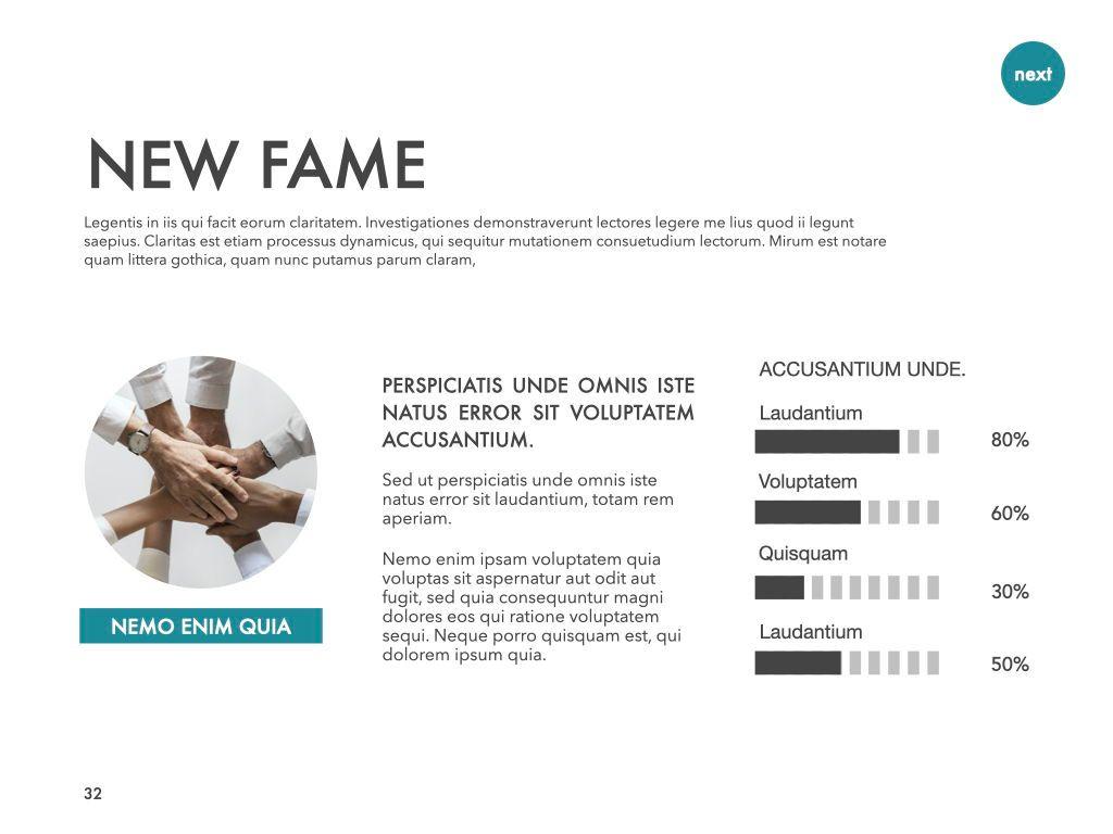 New Fame Google Slides Presentation Template, Slide 27, 06881, Presentation Templates — PoweredTemplate.com
