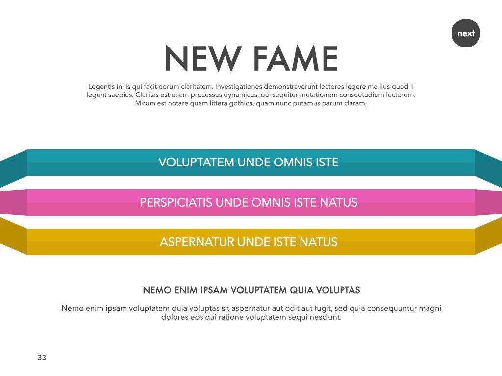 New Fame Google Slides Presentation Template, Slide 28, 06881, Presentation Templates — PoweredTemplate.com