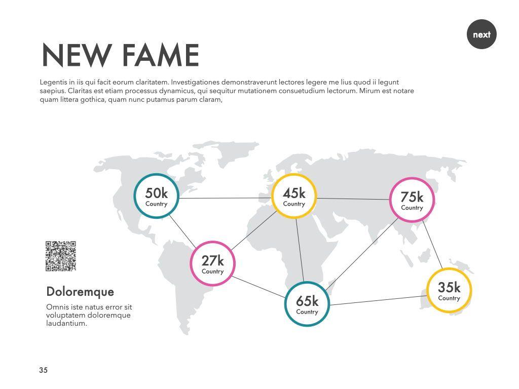 New Fame Google Slides Presentation Template, Slide 30, 06881, Presentation Templates — PoweredTemplate.com