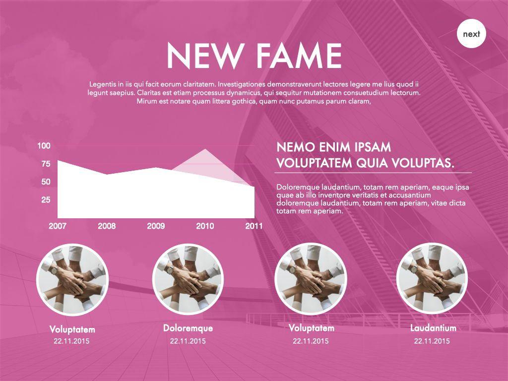 New Fame Google Slides Presentation Template, Slide 32, 06881, Presentation Templates — PoweredTemplate.com