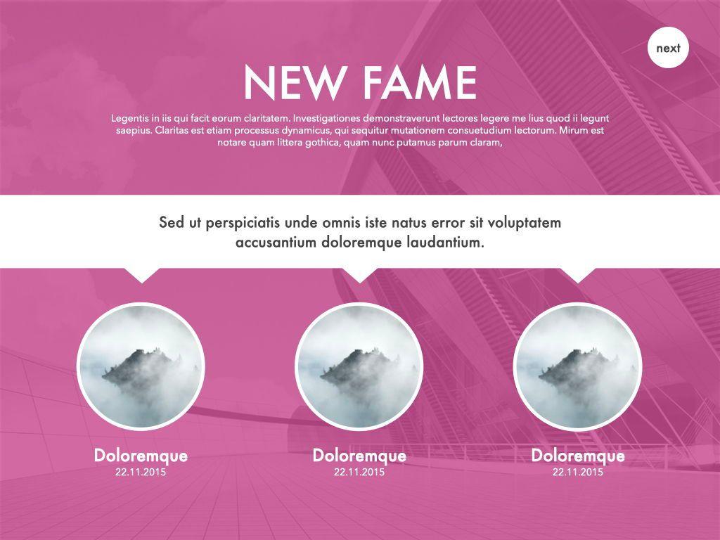 New Fame Google Slides Presentation Template, Slide 34, 06881, Presentation Templates — PoweredTemplate.com
