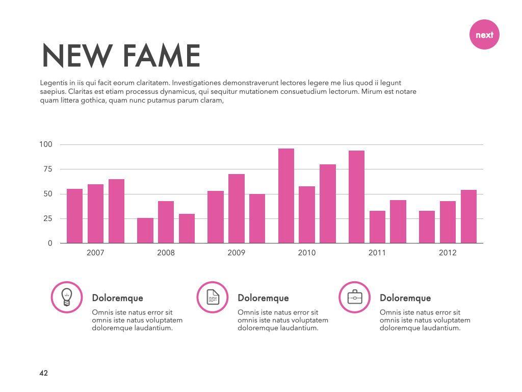 New Fame Google Slides Presentation Template, Slide 38, 06881, Presentation Templates — PoweredTemplate.com