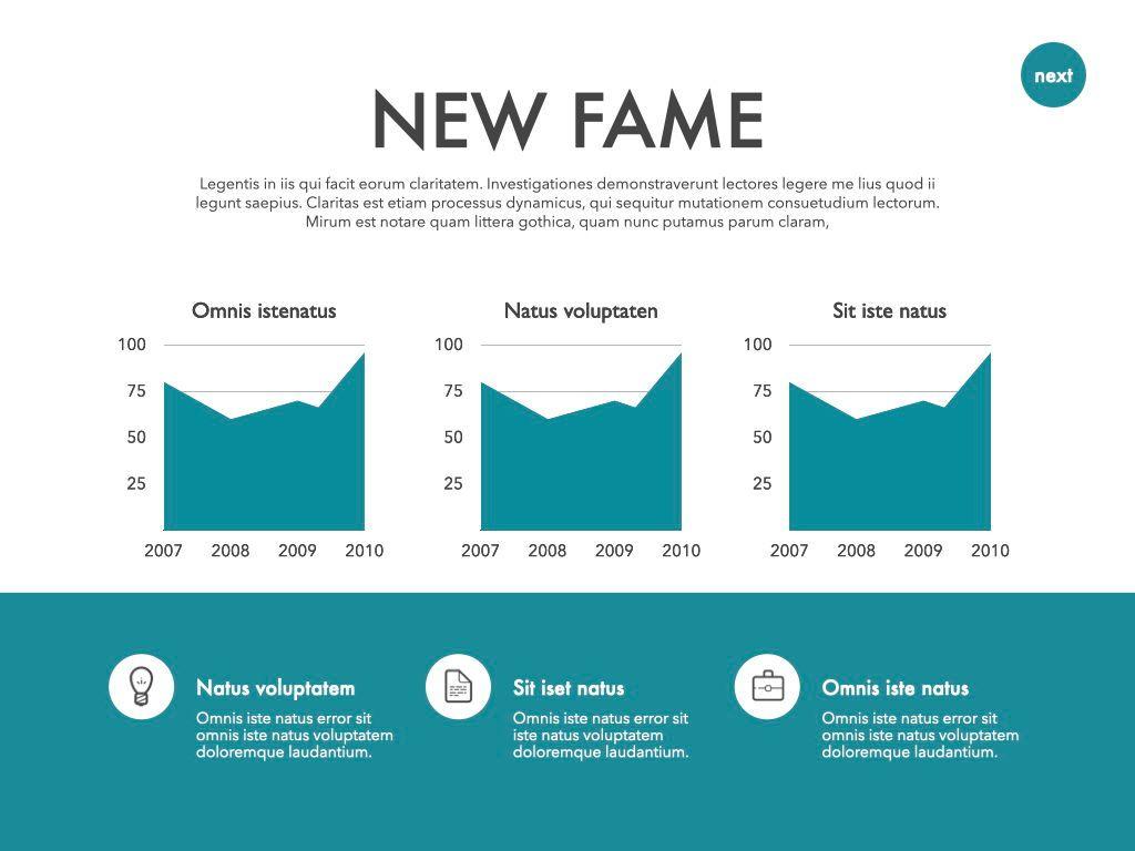 New Fame Google Slides Presentation Template, Slide 40, 06881, Presentation Templates — PoweredTemplate.com