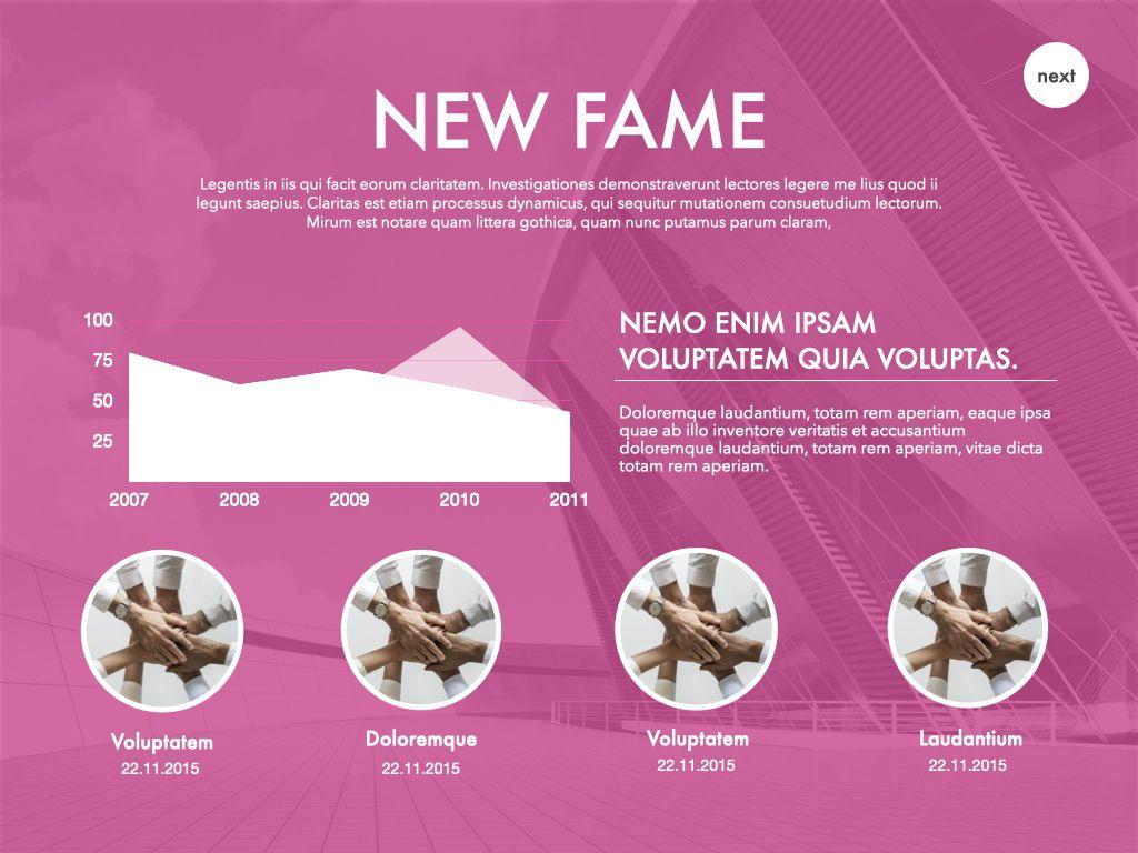 New Fame Google Slides Presentation Template, Slide 43, 06881, Presentation Templates — PoweredTemplate.com