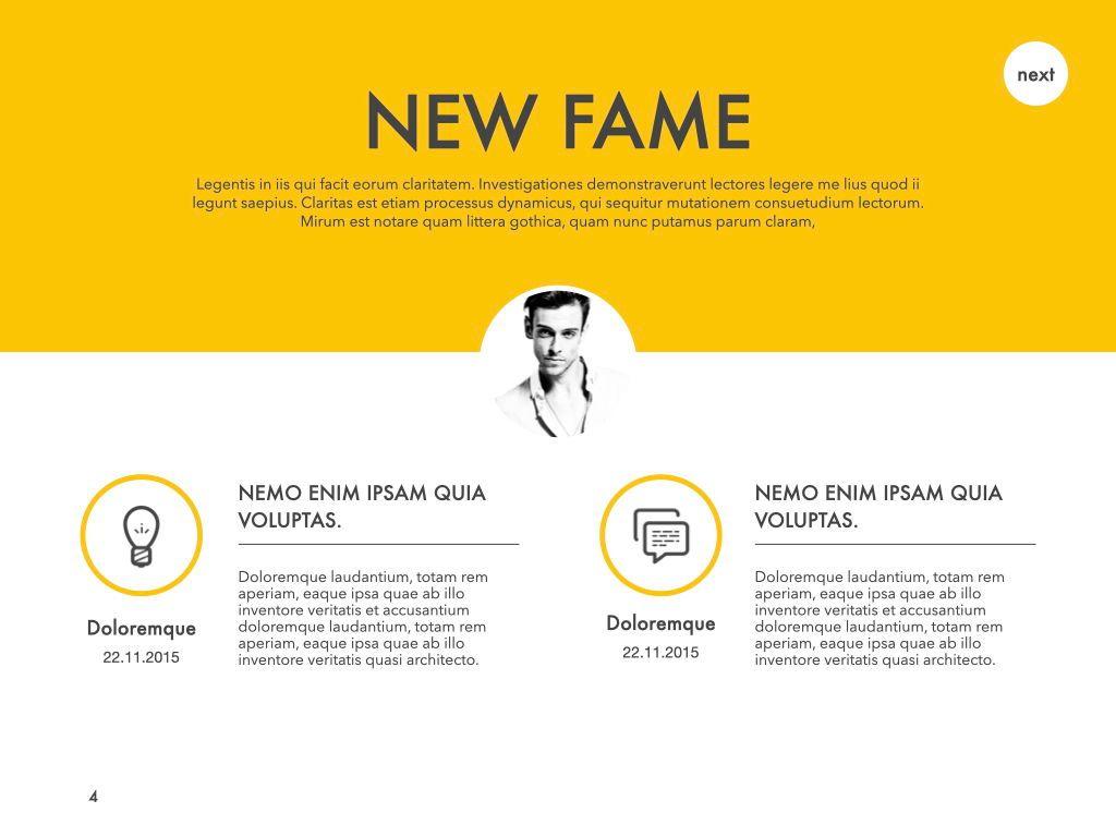 New Fame Google Slides Presentation Template, Slide 45, 06881, Presentation Templates — PoweredTemplate.com
