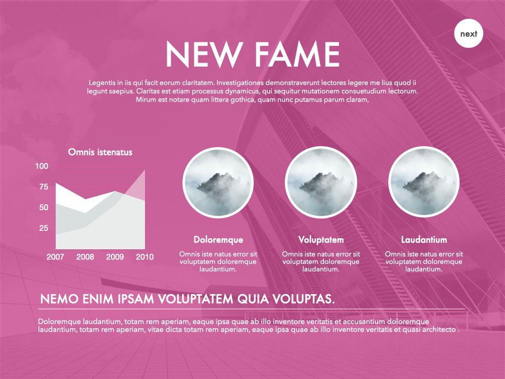 New Fame Google Slides Presentation Template, Slide 5, 06881, Presentation Templates — PoweredTemplate.com