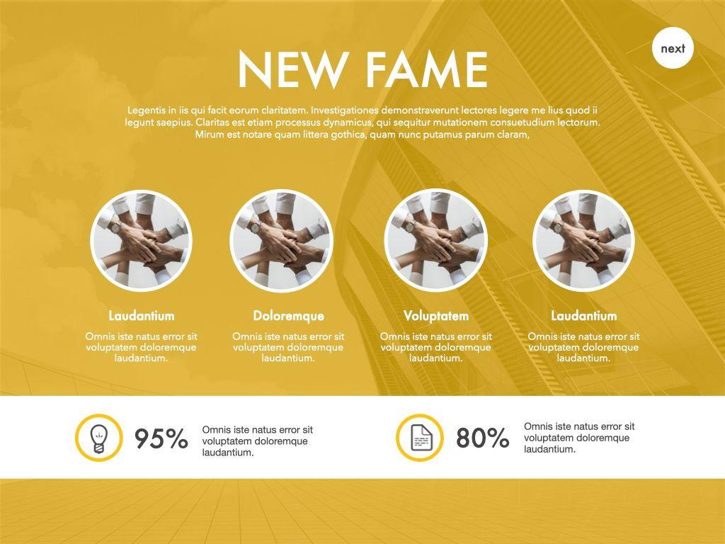 New Fame Google Slides Presentation Template, Slide 54, 06881, Presentation Templates — PoweredTemplate.com