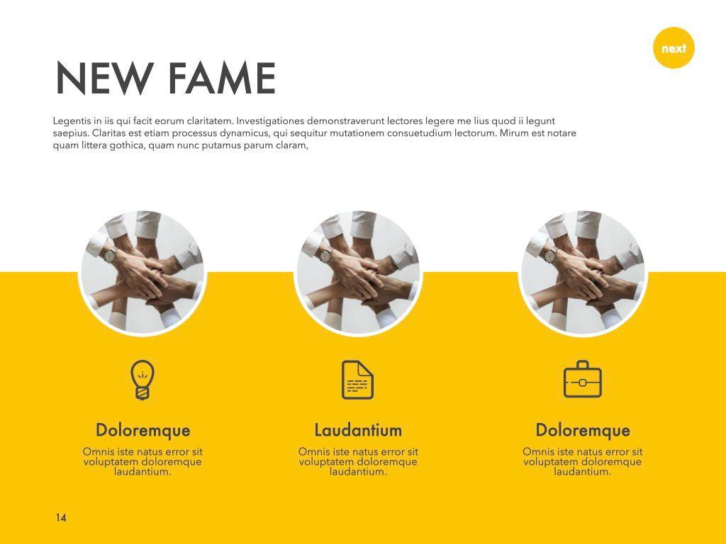 New Fame Google Slides Presentation Template, Slide 7, 06881, Presentation Templates — PoweredTemplate.com