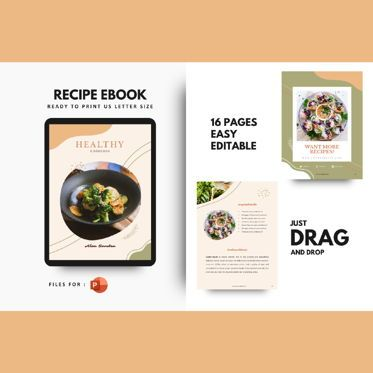 Presentation Templates: Recipe ebook vegan powerpoint presentation templates #06882