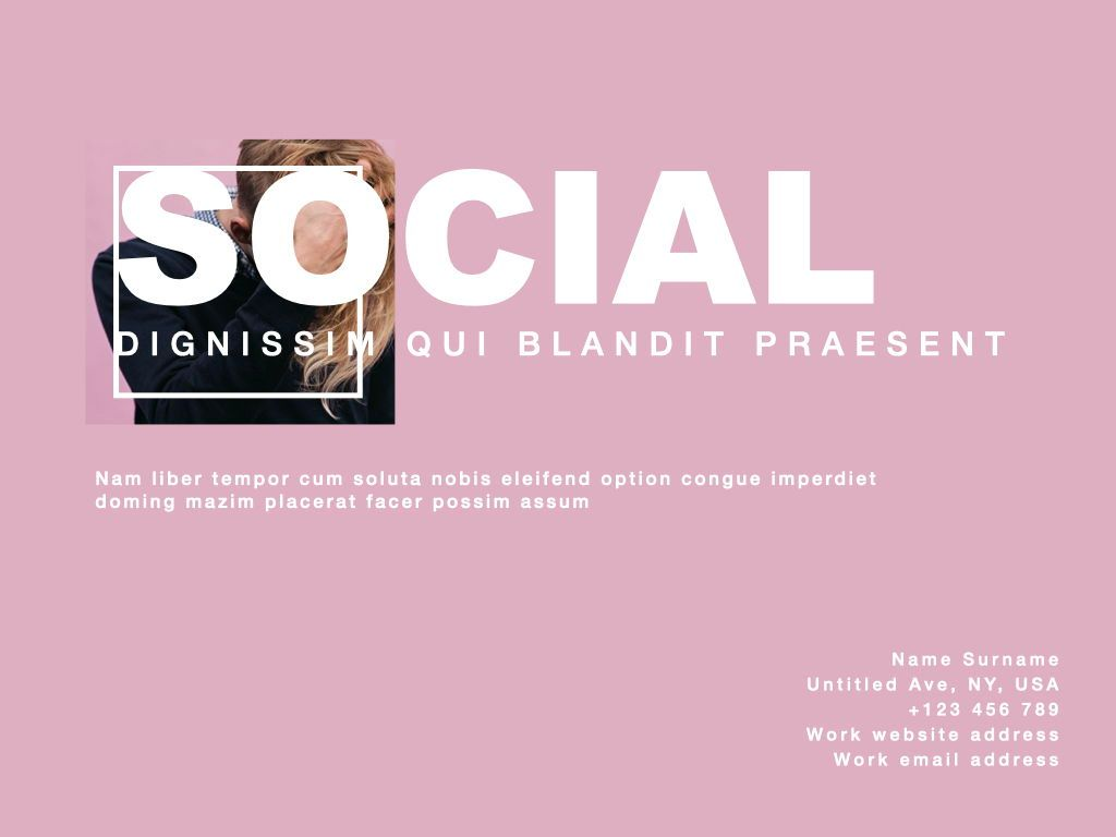 Socialite Google Slides Presentation Template, Slide 14, 06889, Presentation Templates — PoweredTemplate.com
