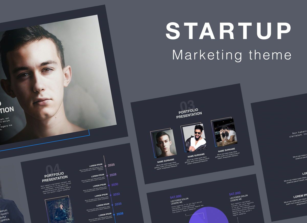 Startup Google Slides Presentation Template, 06890, Presentation Templates — PoweredTemplate.com