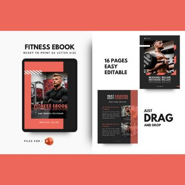 Presentation Templates: Fitness ebook meal planner powerpoint presentation template #06894
