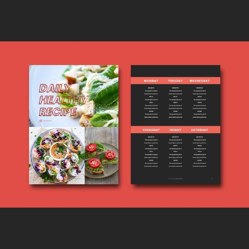 Fitness ebook meal planner powerpoint presentation template, Slide 7, 06894, Presentation Templates — PoweredTemplate.com