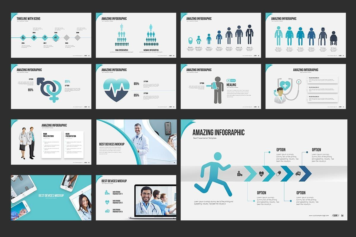 Medical PowerPoint Presentation, Slide 6, 06898, Medical Diagrams and Charts — PoweredTemplate.com