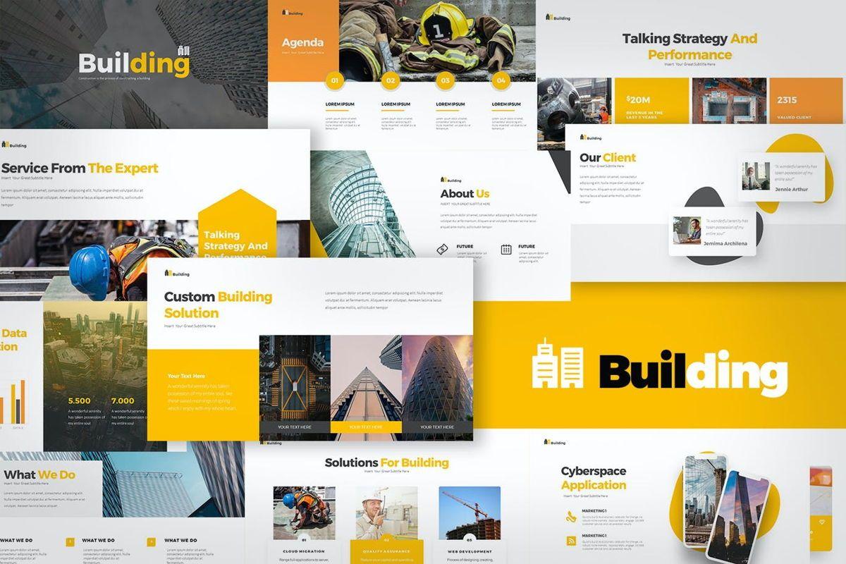 Building PowerPoint Presentation, 06899, Business Models — PoweredTemplate.com