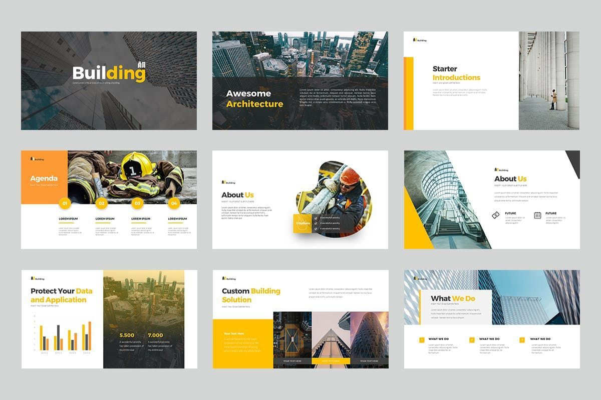Building PowerPoint Presentation, Slide 2, 06899, Business Models — PoweredTemplate.com