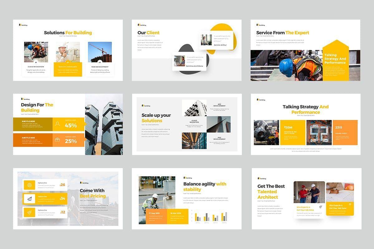 Building PowerPoint Presentation, Slide 3, 06899, Business Models — PoweredTemplate.com
