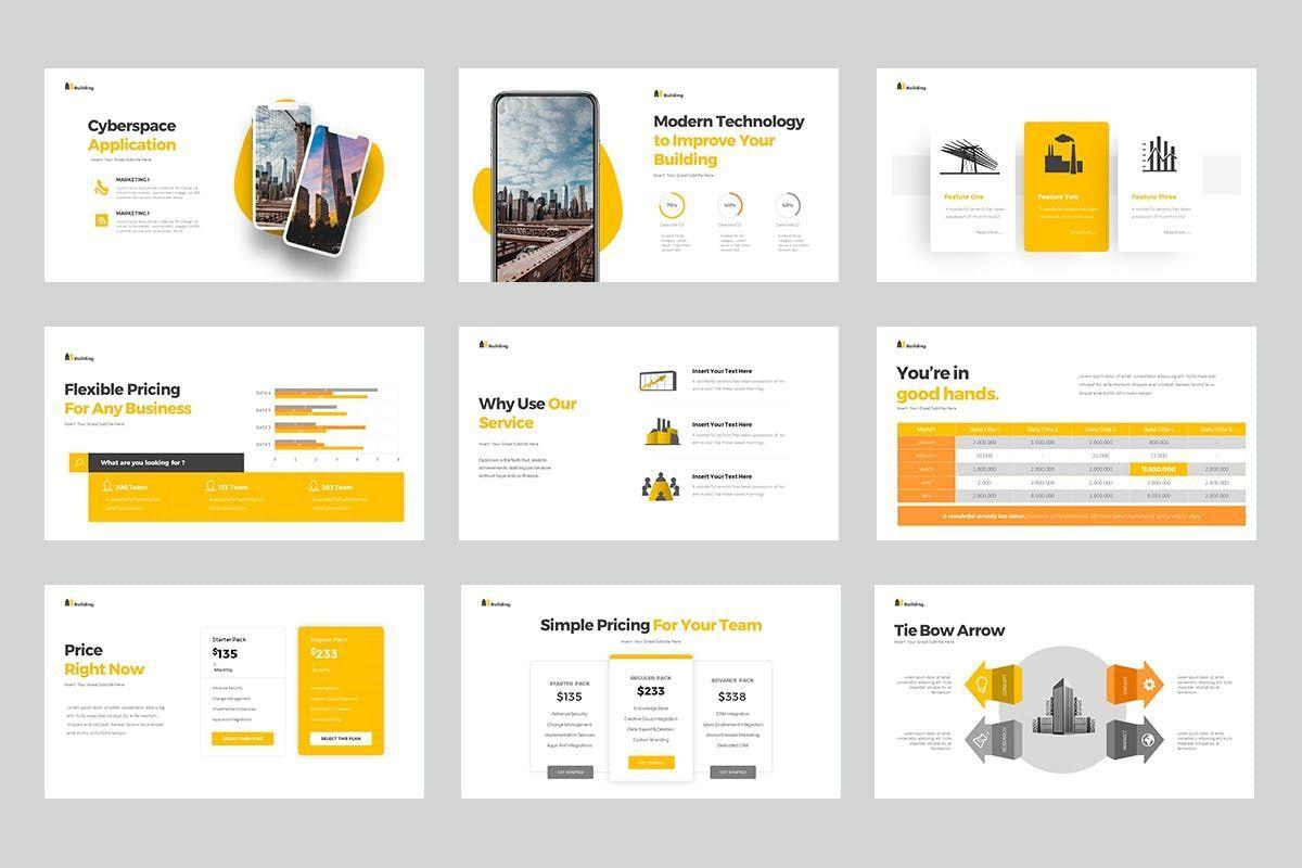 Building PowerPoint Presentation, Slide 5, 06899, Business Models — PoweredTemplate.com
