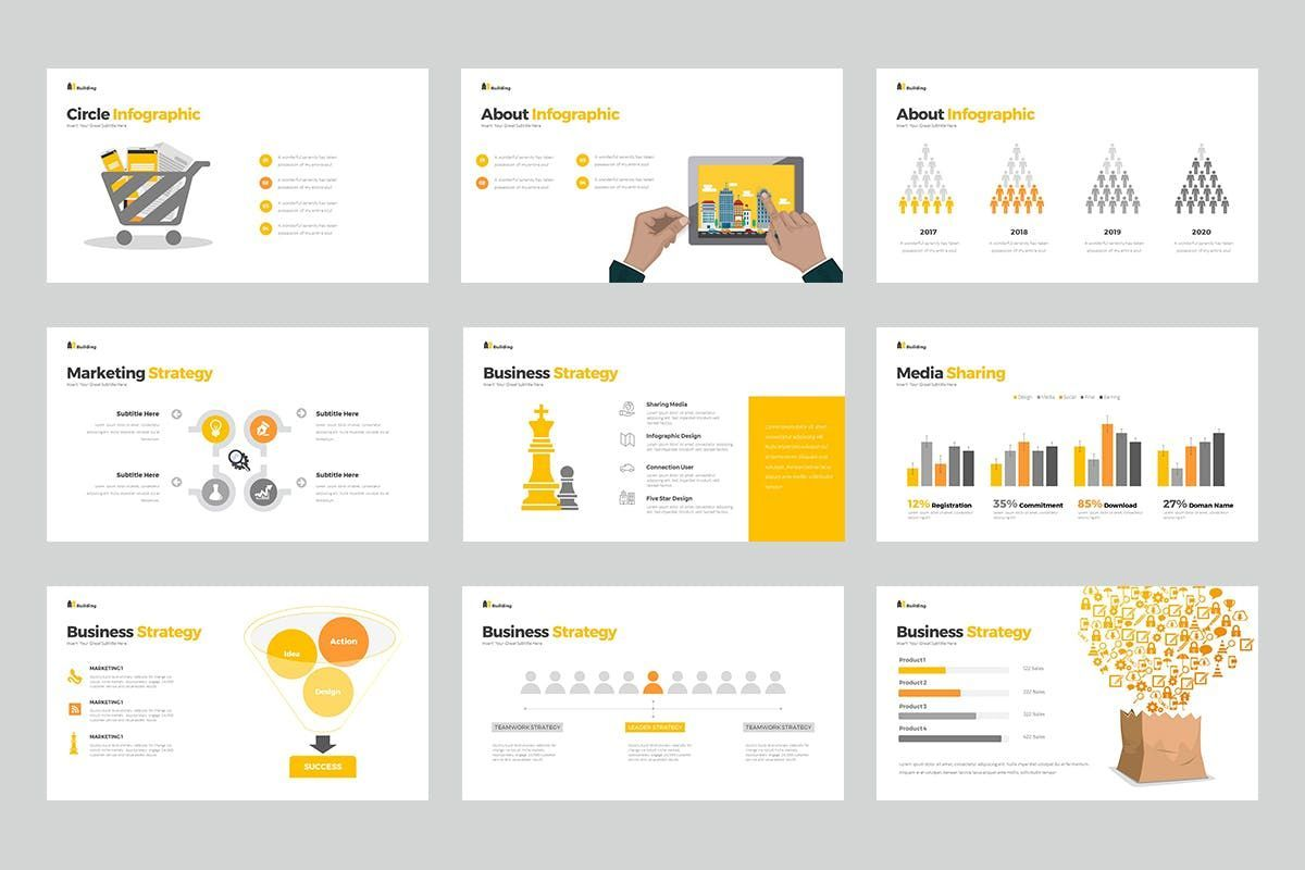 Building PowerPoint Presentation, Slide 6, 06899, Business Models — PoweredTemplate.com