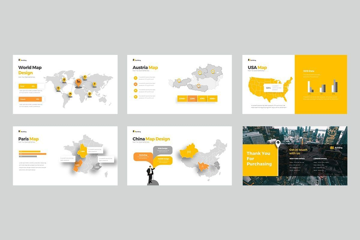 Building PowerPoint Presentation, Slide 7, 06899, Business Models — PoweredTemplate.com