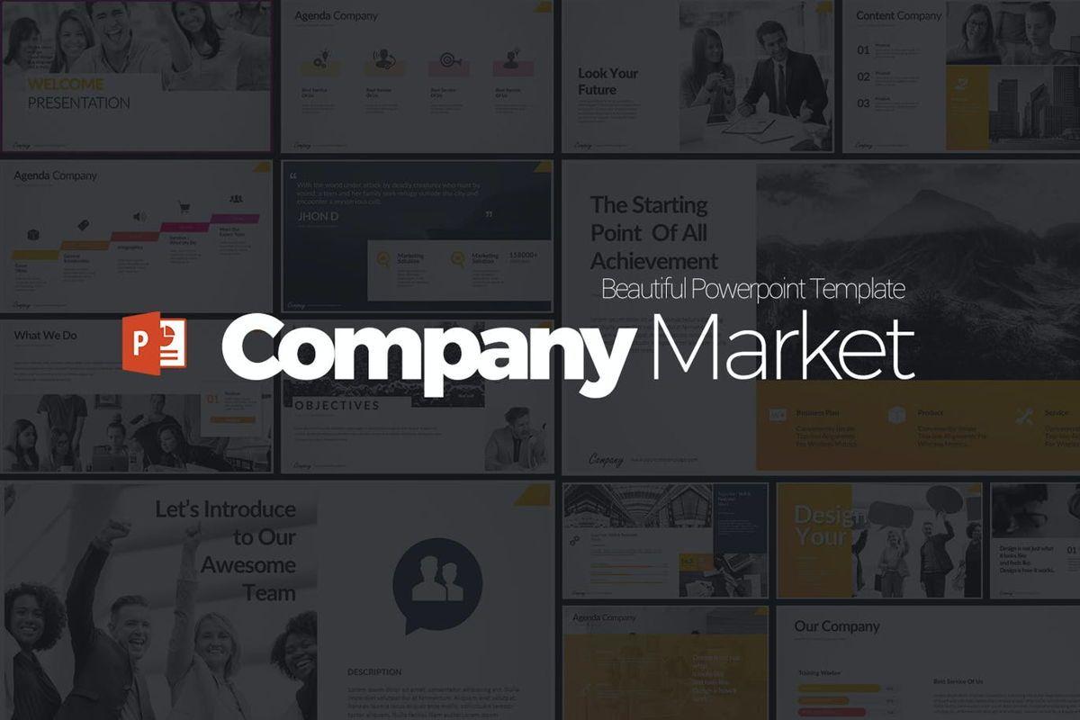 Company Market Powerpoint Presentation, 06903, Business Models — PoweredTemplate.com