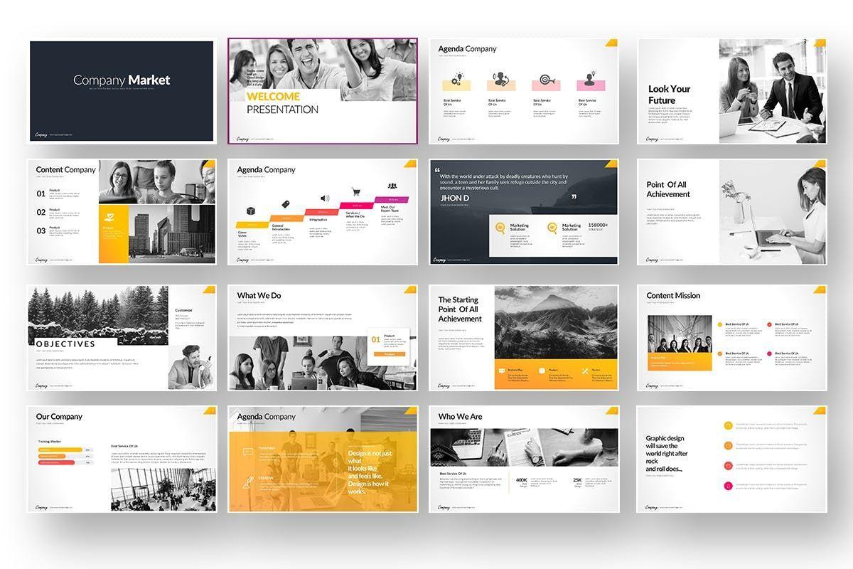 Company Market Powerpoint Presentation, Slide 2, 06903, Business Models — PoweredTemplate.com