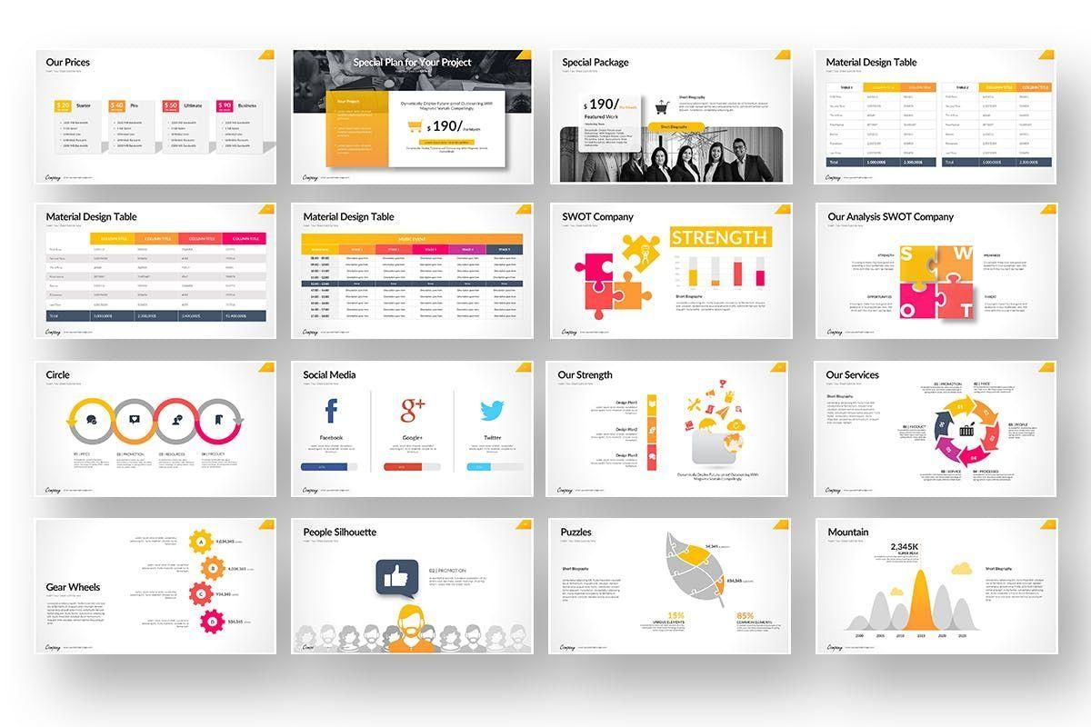 Company Market Powerpoint Presentation, Slide 4, 06903, Business Models — PoweredTemplate.com