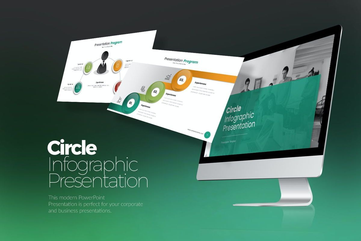 Circle Infographic PPTX, 06904, Business Models — PoweredTemplate.com