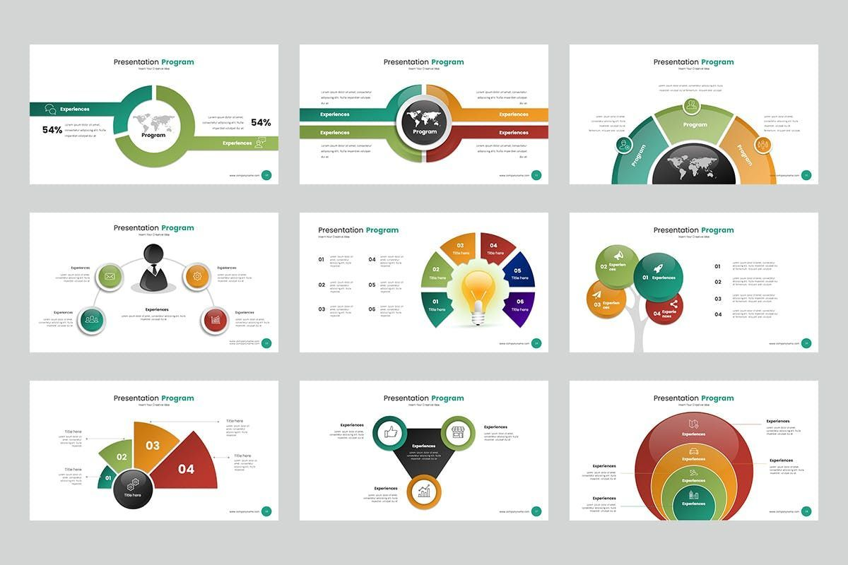 Circle Infographic PPTX, Slide 3, 06904, Business Models — PoweredTemplate.com