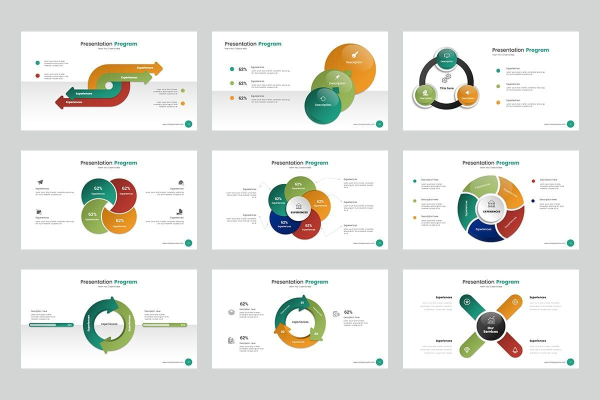 Circle Infographic PPTX, Slide 4, 06904, Business Models — PoweredTemplate.com