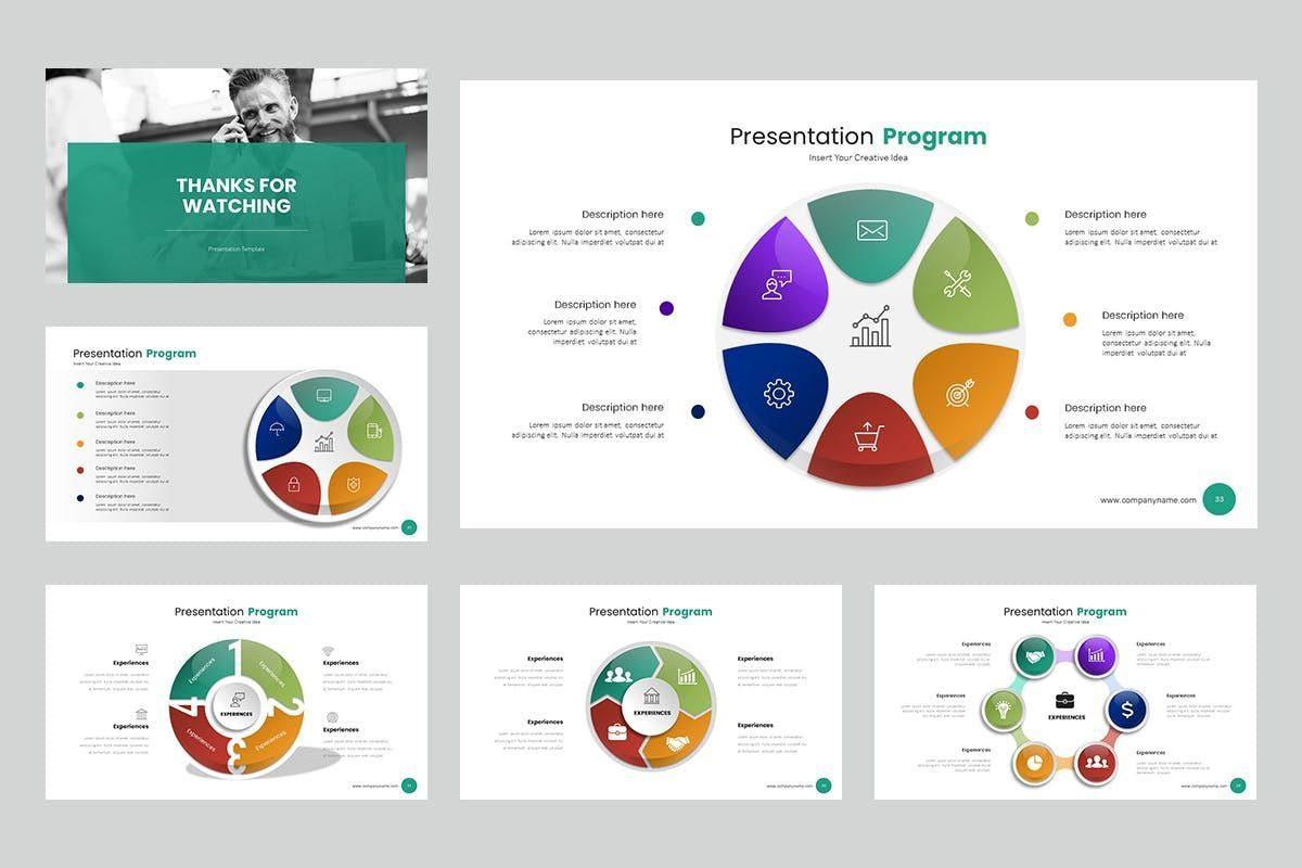 Circle Infographic PPTX, Slide 5, 06904, Business Models — PoweredTemplate.com