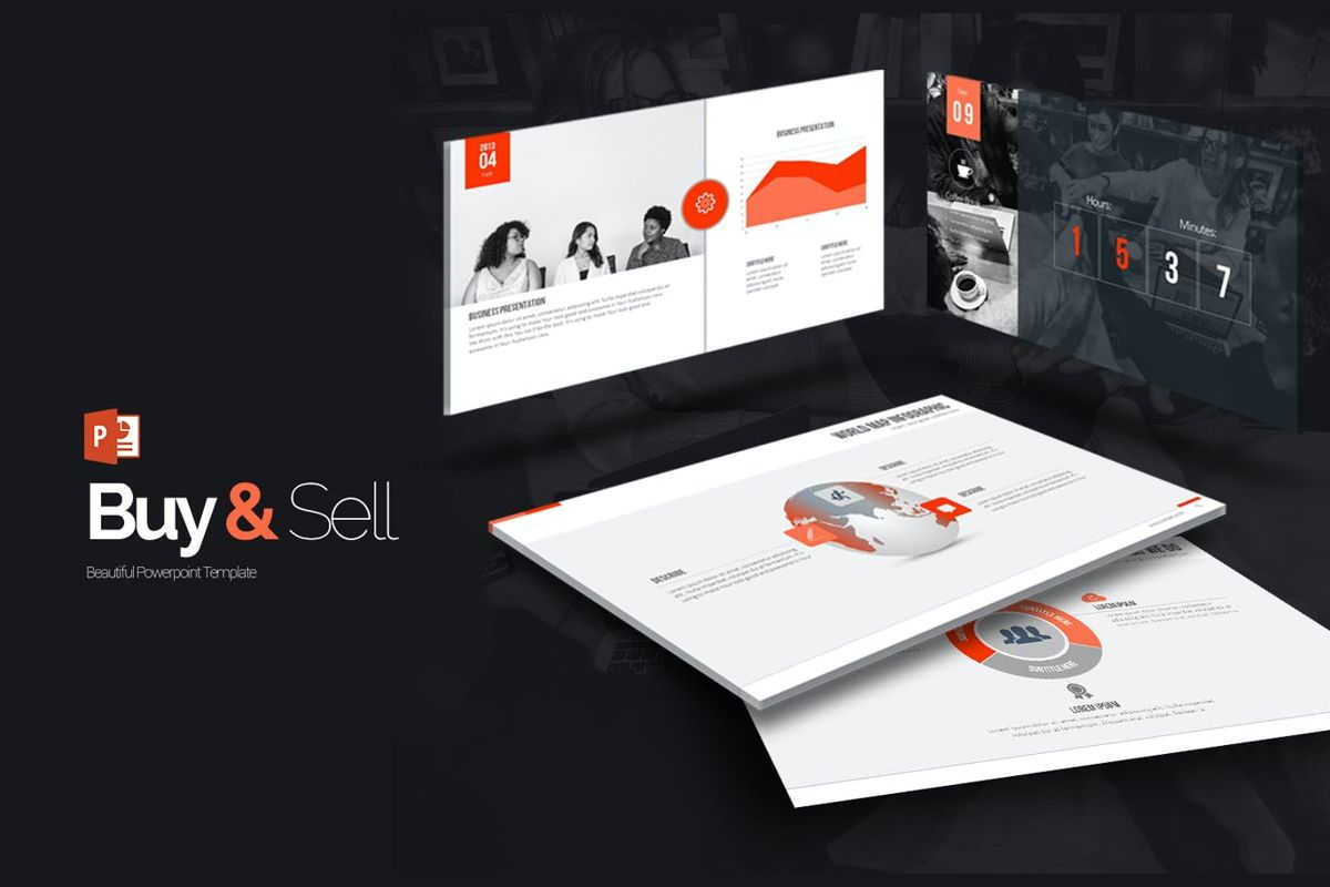 Buy N Sell PowerPoint Presentation, 06905, Model Bisnis — PoweredTemplate.com