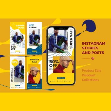 Business Models: Instagram stories and posts powerpoint template - sale discount collections #06907