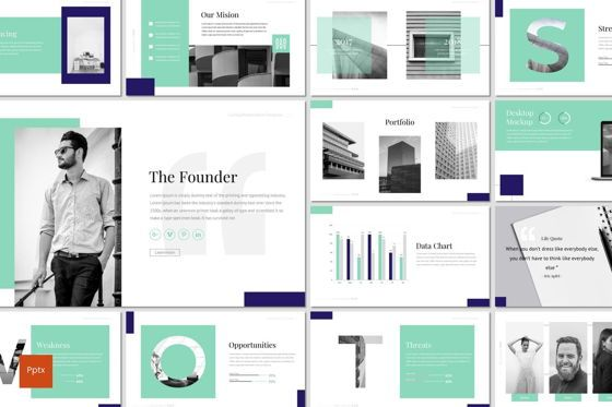 Presentation Templates: CaiHop - PowerPoint Template #06908