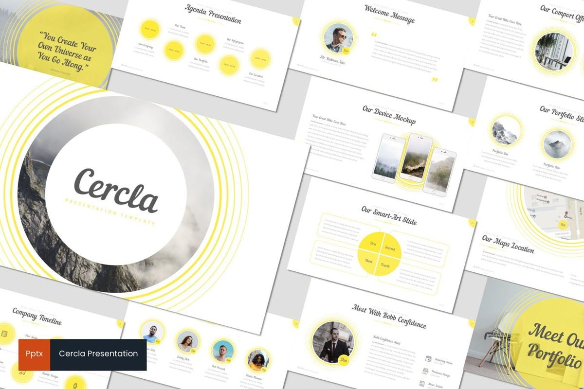 Cercla - PowerPoint Template, 06911, Presentation Templates — PoweredTemplate.com