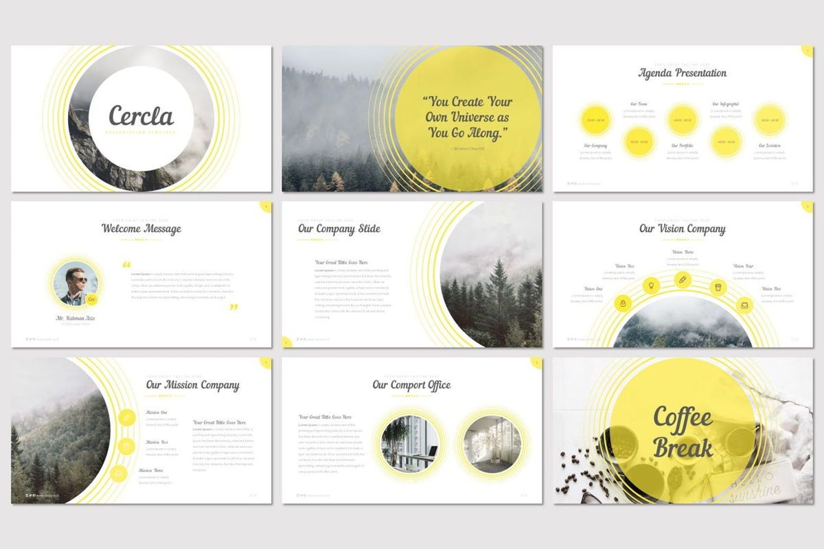 Cercla - PowerPoint Template, Slide 2, 06911, Presentation Templates — PoweredTemplate.com