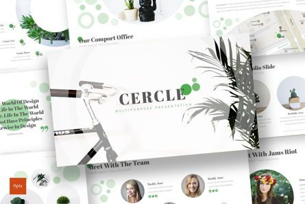 Presentation Templates: Cercle - PowerPoint Template #06914