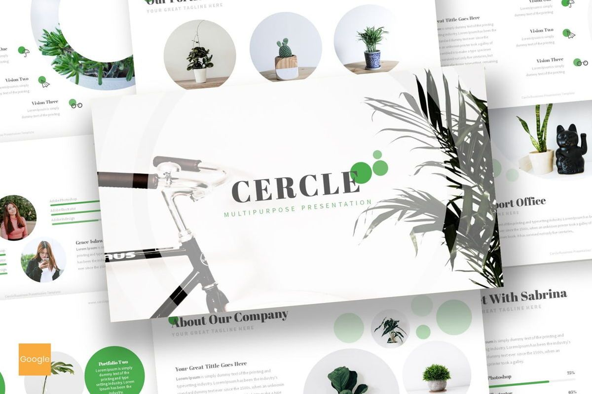 Cercle - Google Slides Template, 06915, Presentation Templates — PoweredTemplate.com