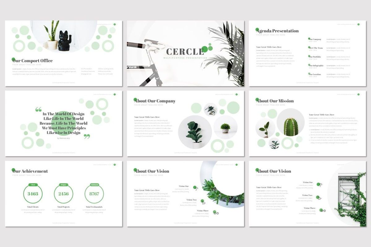 Cercle - Google Slides Template, Slide 2, 06915, Presentation Templates — PoweredTemplate.com