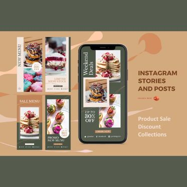 Business Models: Instagram stories and posts powerpoint template - sale promo collections #06917
