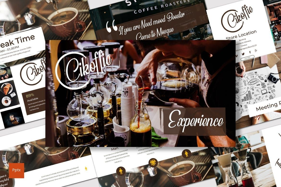 Cikoffie - PowerPoint Template, 06921, Presentation Templates — PoweredTemplate.com