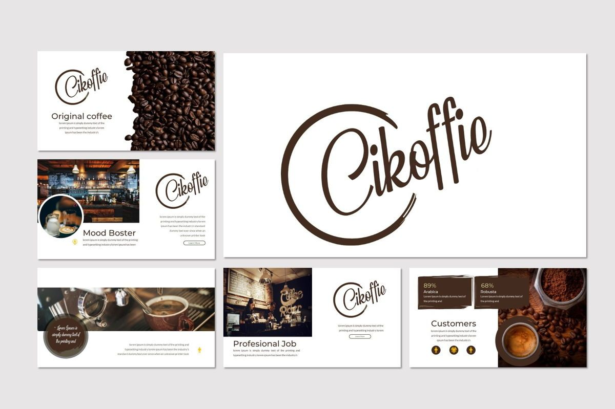 Cikoffie - PowerPoint Template, Slide 2, 06921, Presentation Templates — PoweredTemplate.com
