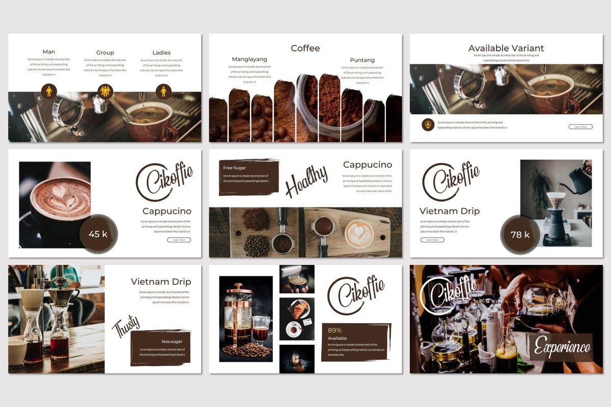 Cikoffie - PowerPoint Template, Slide 3, 06921, Presentation Templates — PoweredTemplate.com