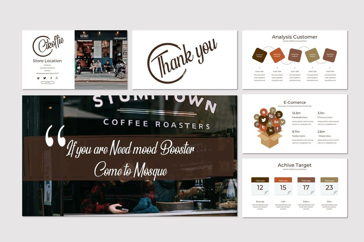 Cikoffie - PowerPoint Template, Slide 5, 06921, Presentation Templates — PoweredTemplate.com