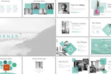 Infographics: Corner - PowerPoint Template #06922