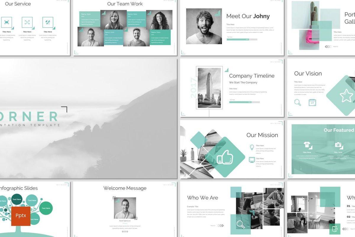 Corner - PowerPoint Template, 06922, Infographics — PoweredTemplate.com